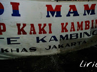 Sup kambing Sudi Mampir, mantap !