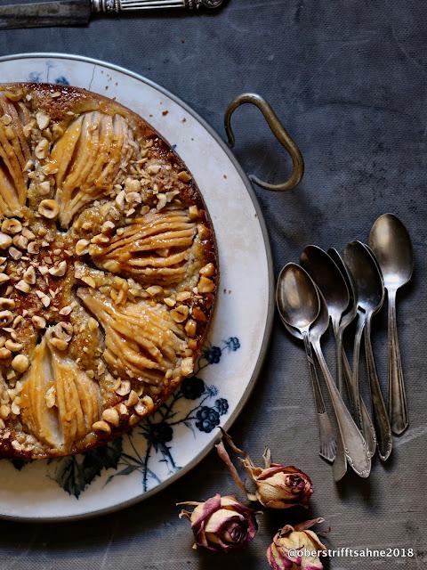 Obstkuchen mit Birne