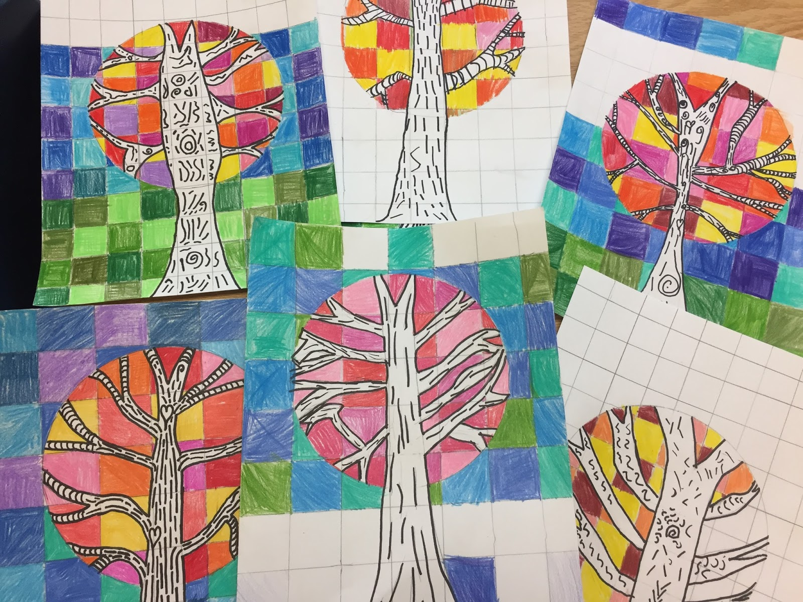 Elements Of Visual Arts : Room with mme mcallister visual arts warm cool trees