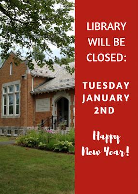 Library Closed Tuesday, January 2, 2018