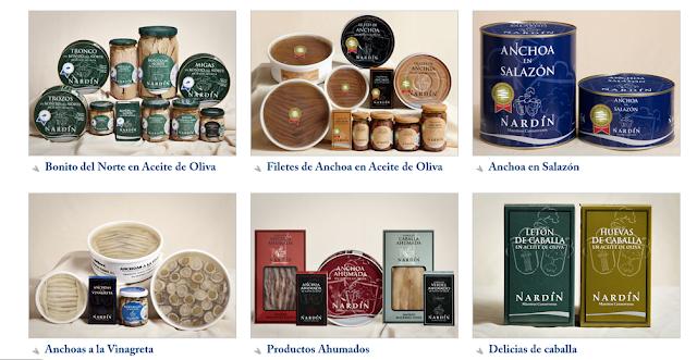 prodotti conservas nardin