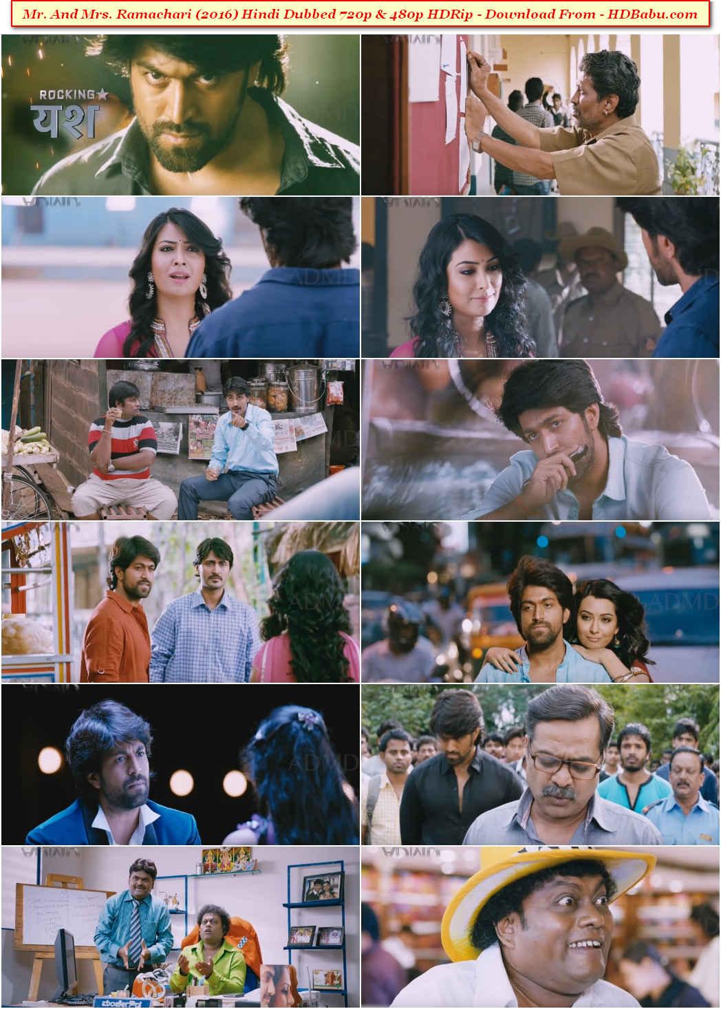 Mr And Mrs Ramachari Hindi Dual Audio Full Movie Download