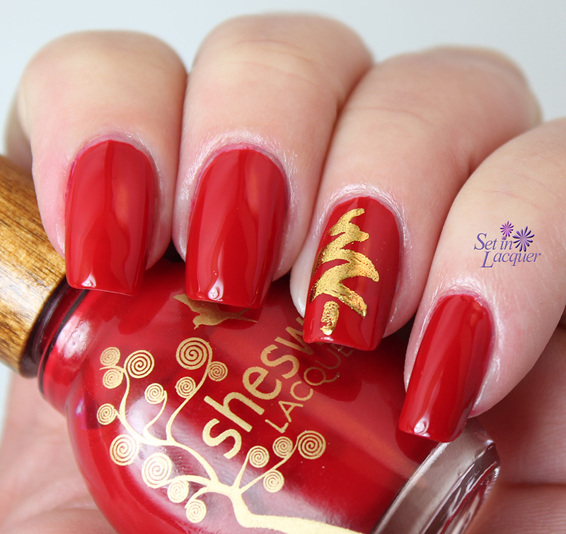 Christmas Tree Nail Art: Set In Lacquer: Salon Perfect