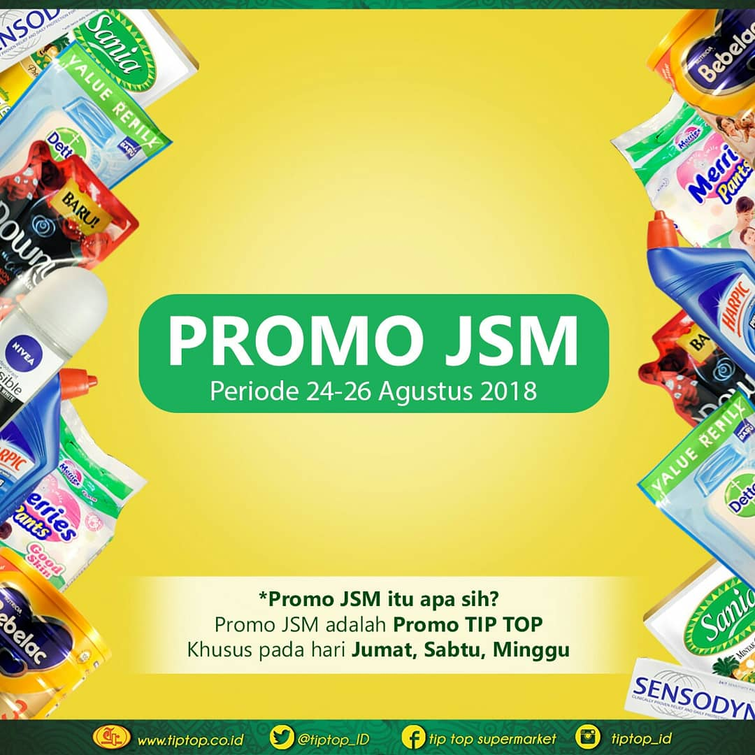 TipTop - Promo Katalog JSM Periode 24 - 26 Agustus 2018