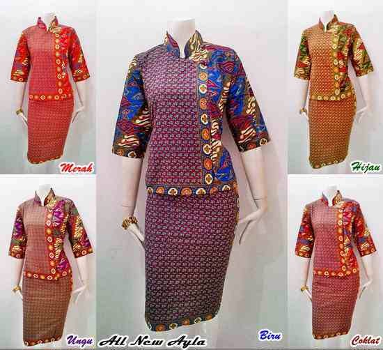 Toko Baju Batik Solo: Model Baju Batik Setelan RnB New Ayla Series