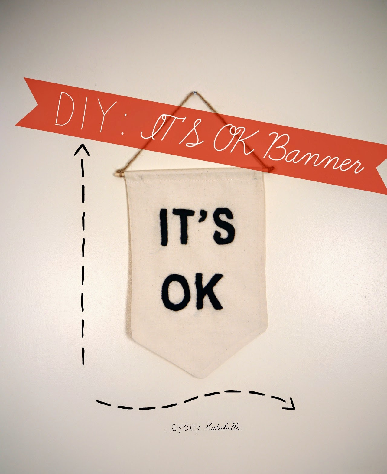 photo of diy it's ok banner