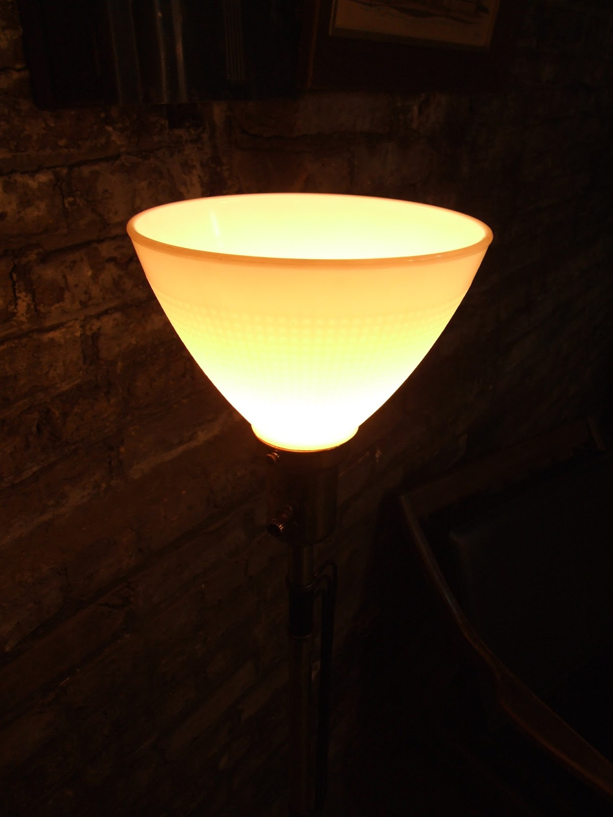 Glass Lamp Killer Mid Century Chicago Floor Lamp With Milk Glass Shade