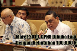 Maret 2019, CPNS Dibuka Lagi Dengan Kebutuhan 100.000 Kuota