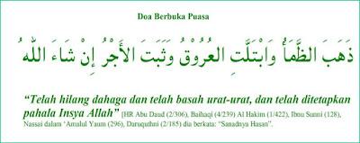 Kumpulan Doa Berbuka Puasa Ramadhan Yang Shahih Benar dengan Artinya
