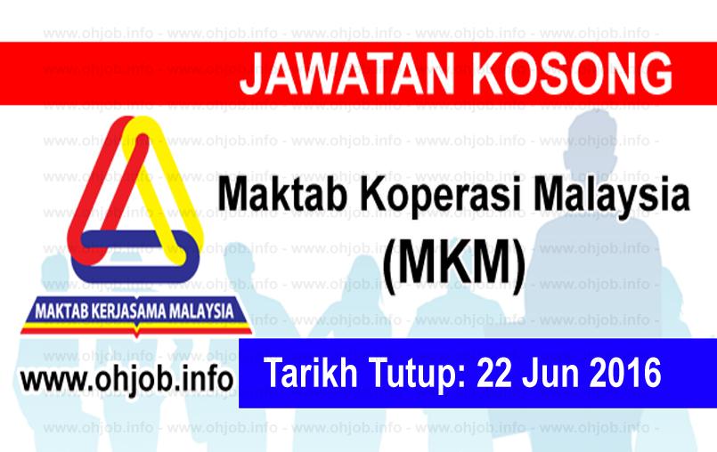 Jawatan Kerja Kosong Maktab Koperasi Malaysia (MKM) logo www.ohjob.info jun 2016