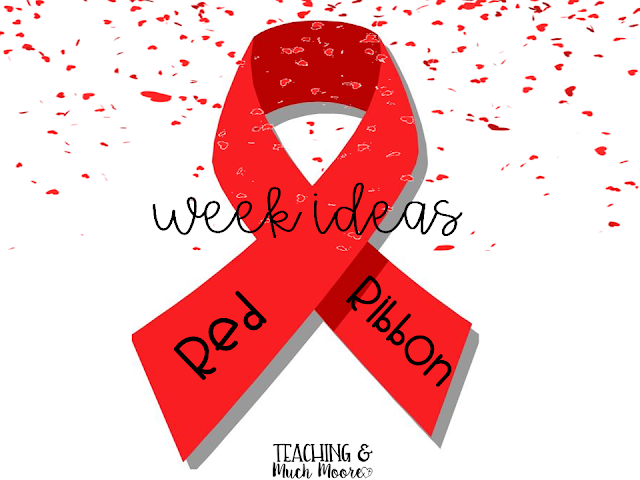 Red Ribbon Week Ideas blog post with lots of pictures and a fun craft