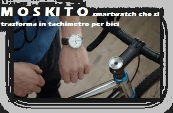 Smartwatch trasformato in tachimetro per bici: M O S KI T O