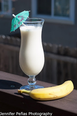 Banana cream colada, coconut rum, malibu rum, banana, banana liqueur, pineapple juice, cream of coconut, vanilla ice cream, Banana cream colada picture, Banana cream colada photo, Banana cream colada image