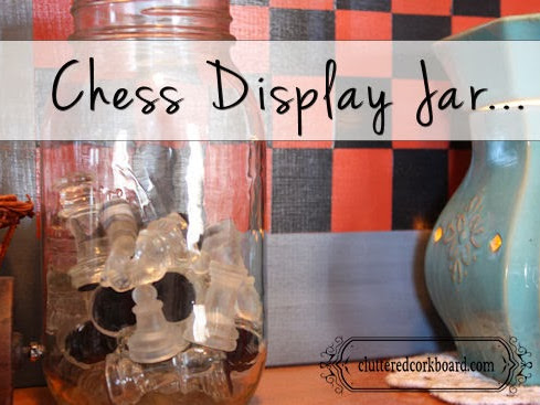 Dressing up a Mason Jar for Chess Pieces...