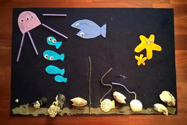 il mare e i suoi abitanti creare con i bambini