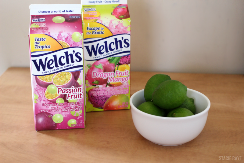 Welch's Passionfruit Mojito Mocktail ingredients