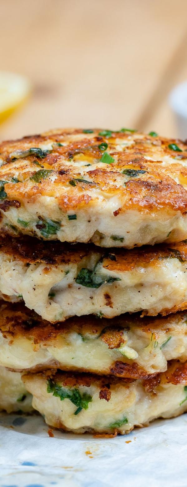 Cheesy Chicken Fritters Recipe #EASY #KETORECIPES