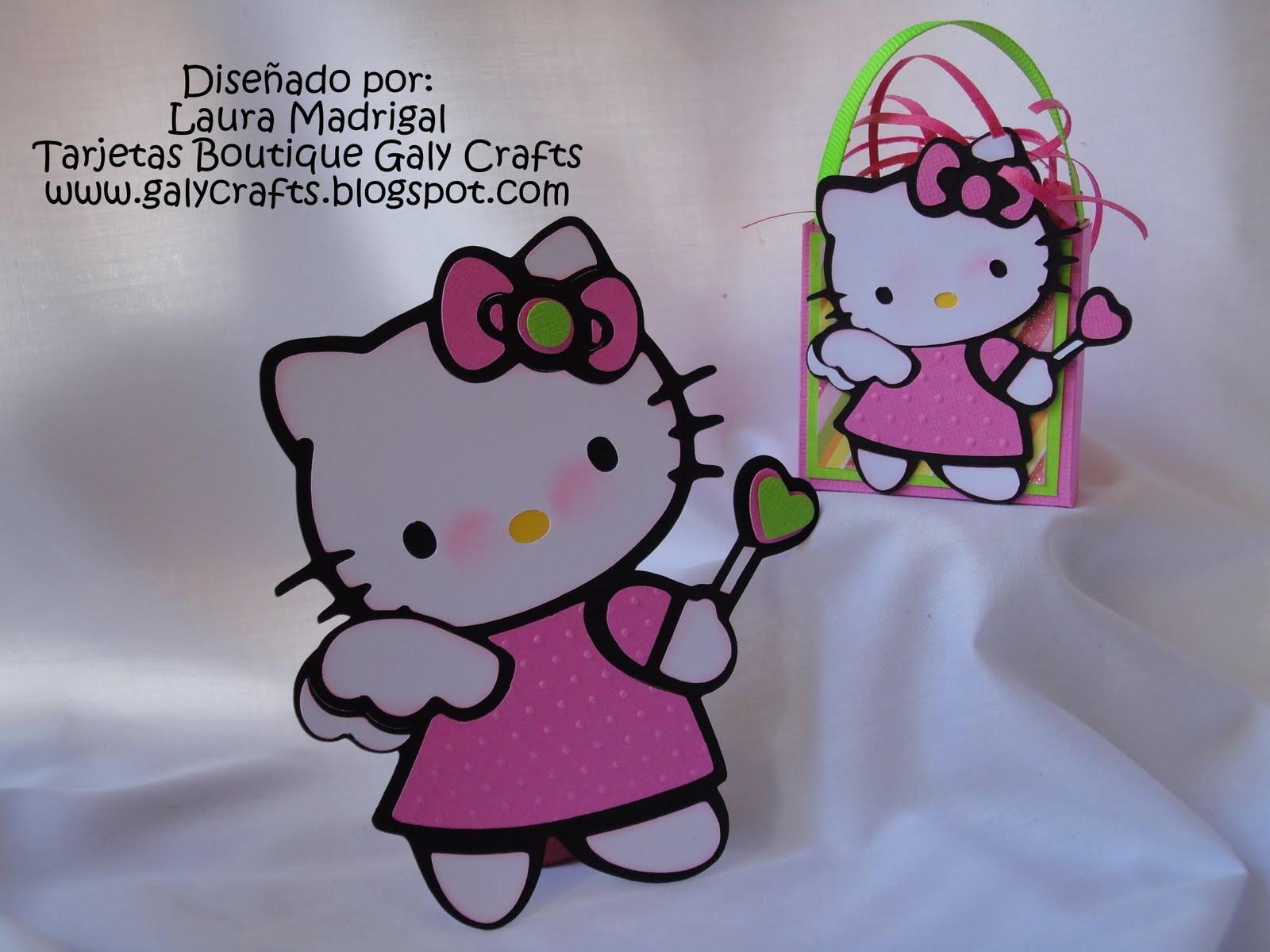 Tarjetas Boutique Galy Crafts Invitación Hello Kitty Y