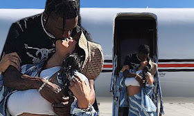Kylie Jenner & Travis Take A Private Jet To Coachella