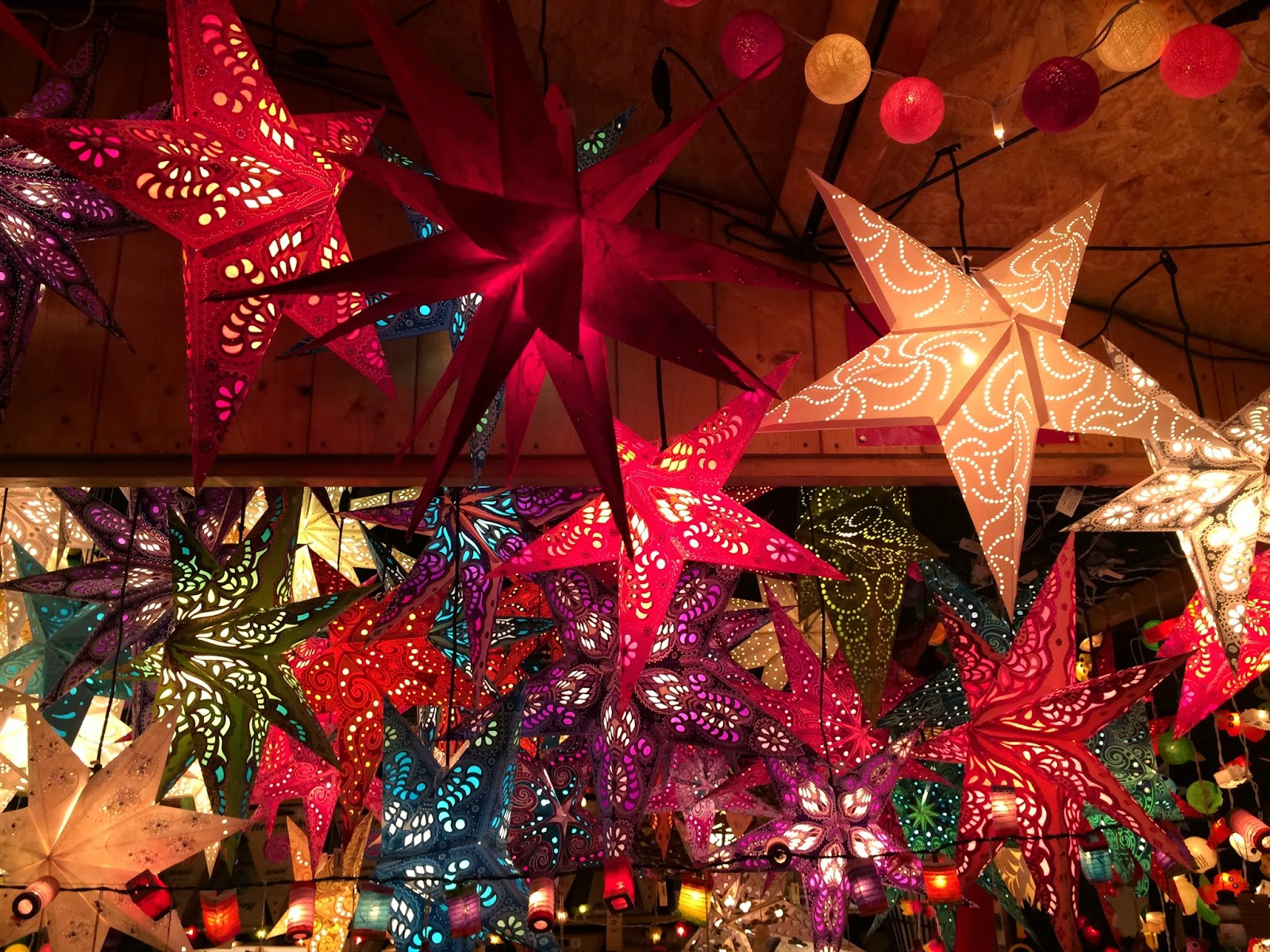 star shaped paper lanterns