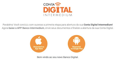 Banco Intermedium, conta digital gratuita 100% online