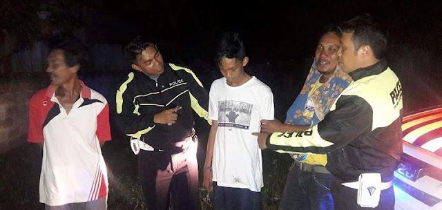 Polantas Palopo Amankan Busur dan Pelaku Pemalakan