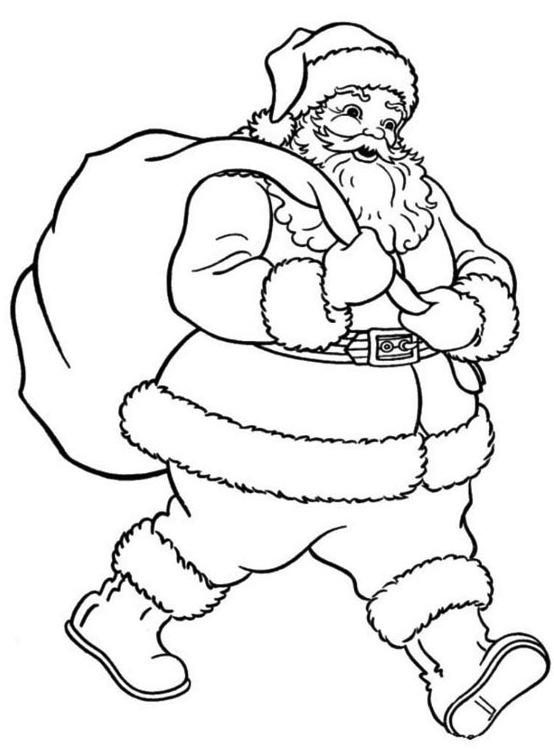 Stampa e colora: Babbo Natale