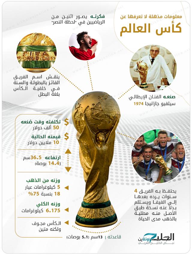 بالصور كل ماتريدة ان تعرفه عن كأس العالم وصناعته وتاريخة