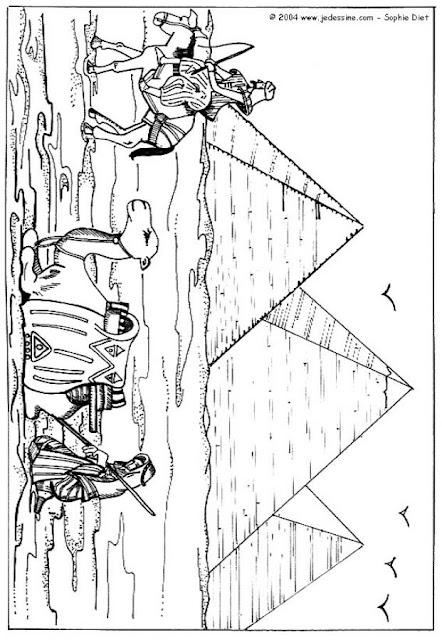 Egipto piramides para colorear