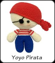 Muñeco yoyo pirata