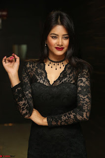 Actress Monica in spicy transparent Black Top at O Pilla Nee Valla Movie Audio Launch Feb 2017 086.JPG