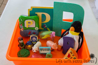 How to Make a Letter P Sensory Bin