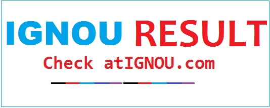 Result and Grade Card - MBA at IGNOU