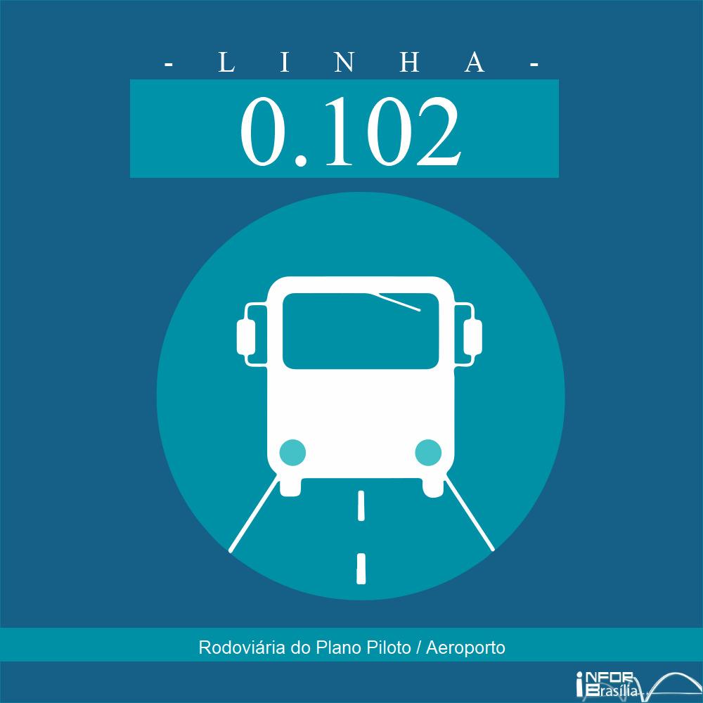 Horário de ônibus e itinerário 0.102 - Rodoviária do Plano Piloto / Aeroporto