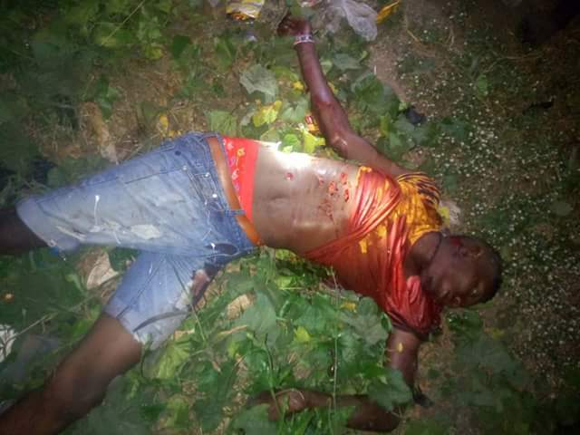 Photos: Alleged notorious cultist and former hitman for Eiye cult group killed on Christmas Day in Kwale, Delta State