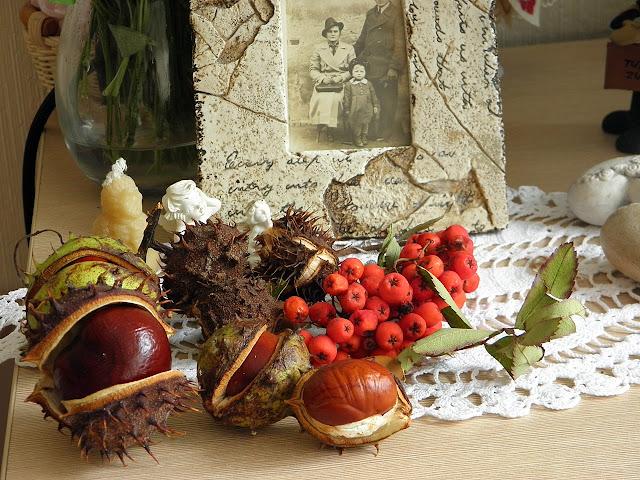 e-fectyinspiracji, dynia, jesień, jesiennie, kasztany, jarzębina, jesienne nastoroje, dekoracje