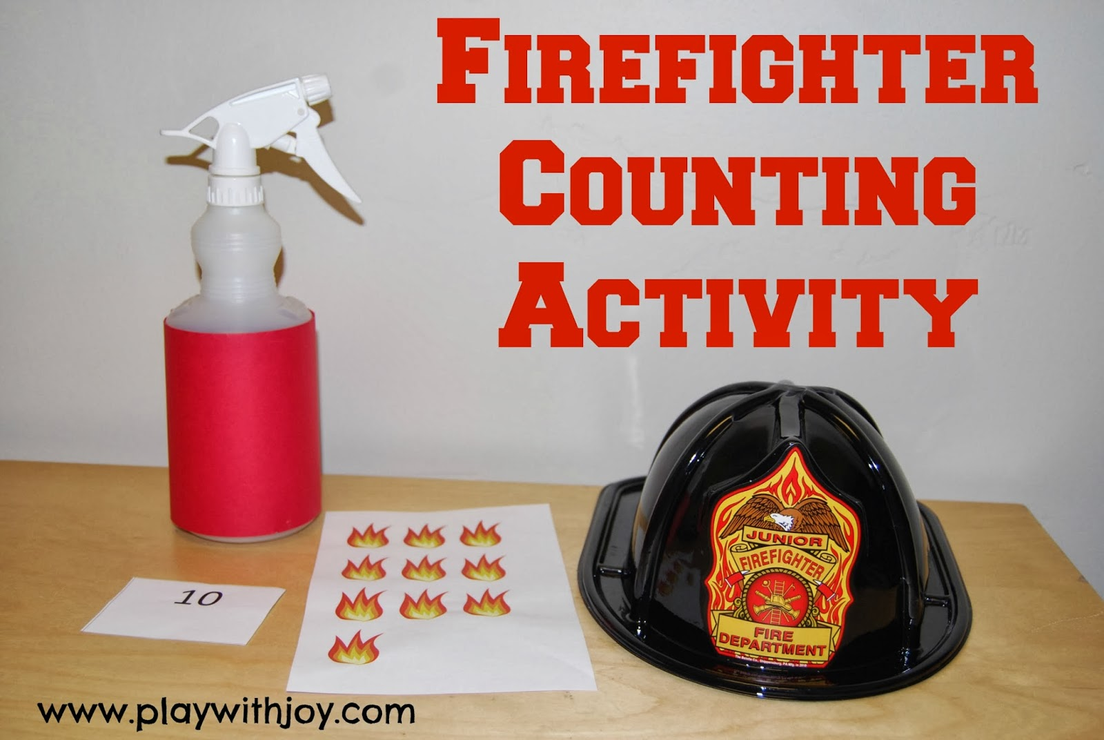 Play With Joy Llc Counting Activity Fighting Fires