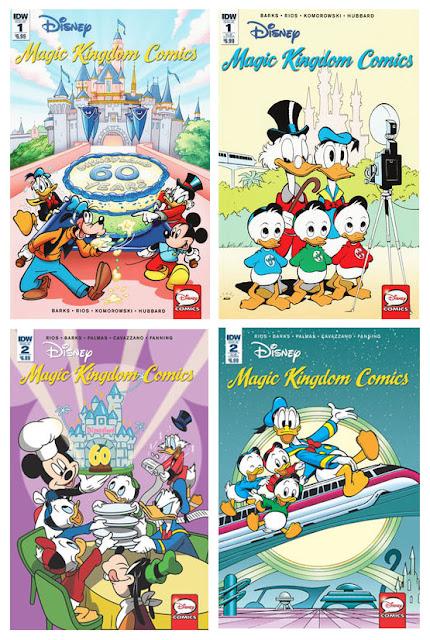 Disney Magic Kindom Comics, all cover variants