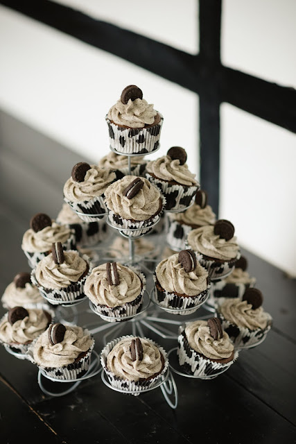 cow print oreo wedding cupcakes