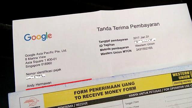 Cara Mengambil Pembayaran Adsense Terbaru di Kantor Pos