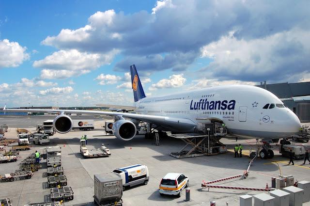A380 Lufthansa At Apron
