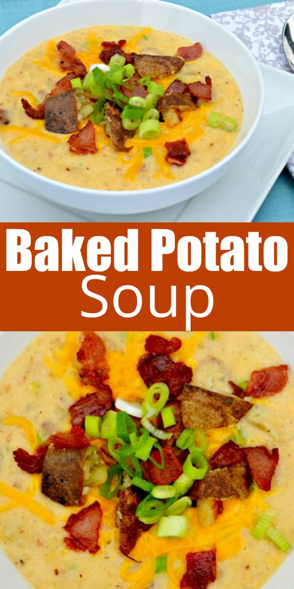 The Best Fully Loaded Baked Potato Soup recipe with a crisp potato skin and bacon topping is a favorite fall soup recipe from Serena Bakes Simply From Scratch.