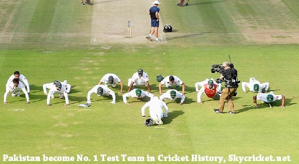 Pakistan on top of ICC test ranking