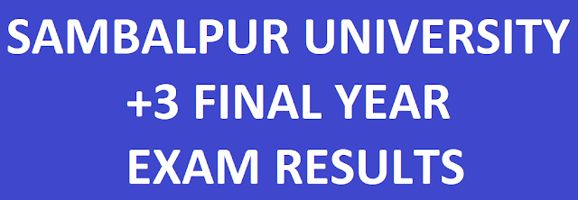 Sambalpur University +3 Final Year Results