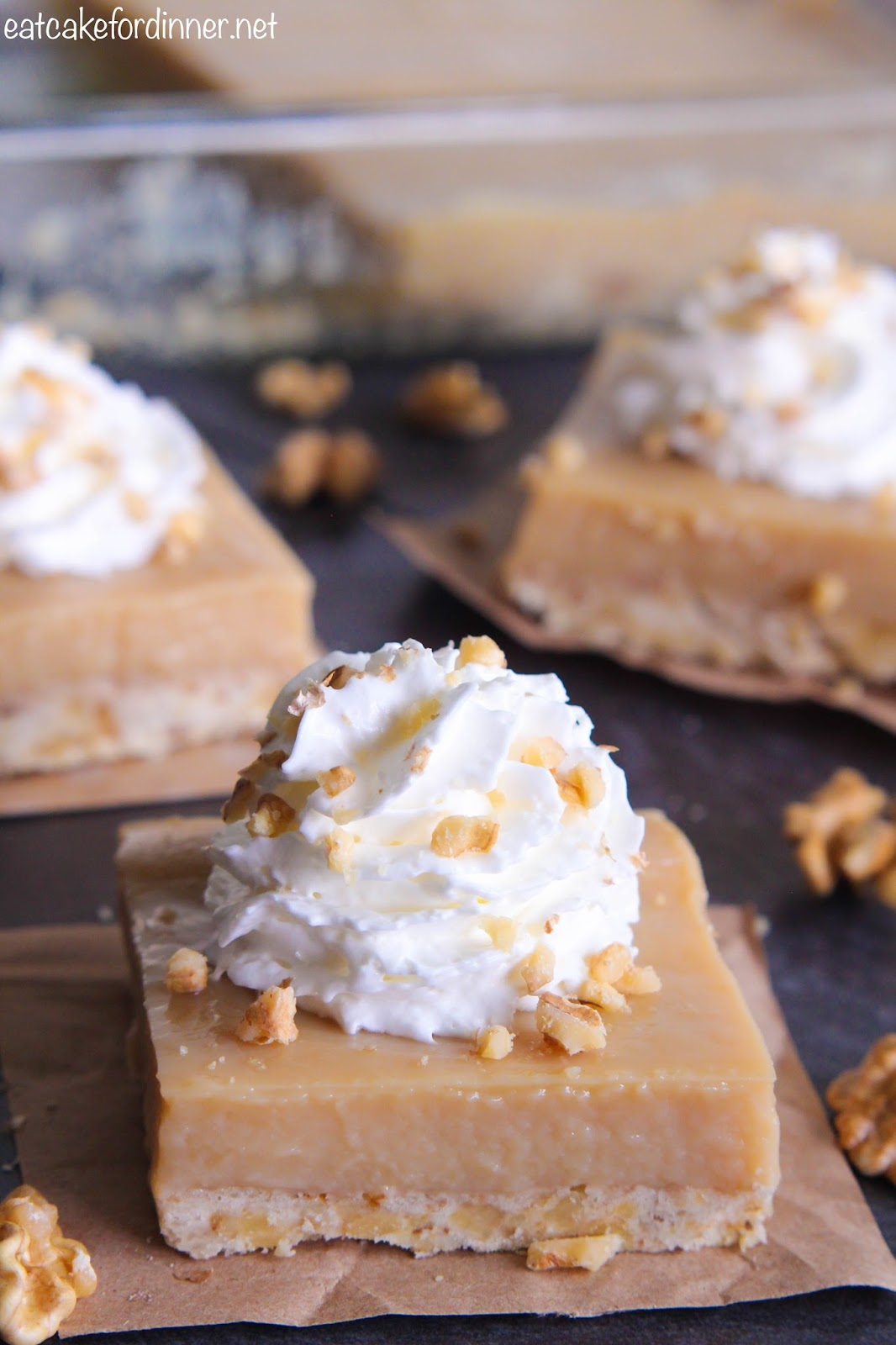 Eat Cake For Dinner: Butterscotch Pudding Pie Bars