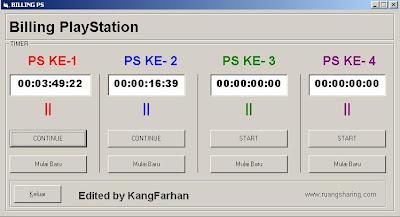 Aplikasi Billing PS2 sederhana