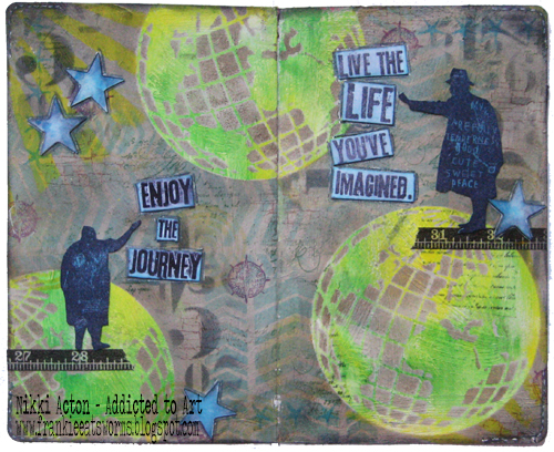 Tim Holtz Sideshow and Globe Die Journal Page