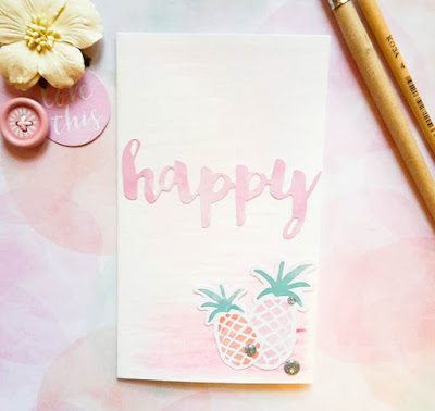 card with pineapples from Cocoa Vanilla