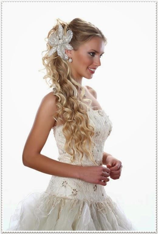 Brautfrisur langes haar offen