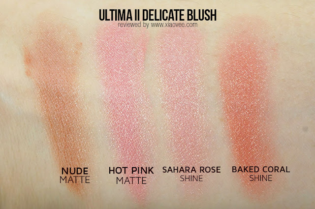 Ultima II Delicate series review, Ultima II delicate review, Ultima II delicate blush review, Ultima II delicate blush on review, Ultima review Bahasa Indonesia, Ultima II review Delicate Bahasa Indonesia, Ultima II blush on swatch